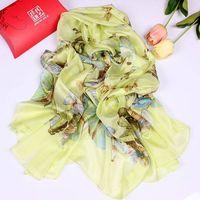 ladies yellow long fashion silk scarf shawl thumbnail image
