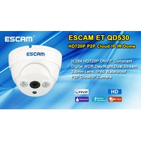 2015 ESCAM fashion style H.264 QD530 ET (1280*720) P2P Onvif 720p ip camera mini thumbnail image
