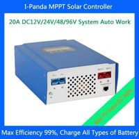 20A 96V MPPT PV Charge Controller, Battery Controller, Solar Regulator, High Efficiency, CE, RoHS, I