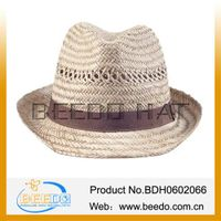 Classical 100% hollow grass straw hat for men