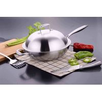 18/10 Stainless Steel Cookware Chinese Cooking Wok (SX-WO32-13)