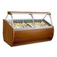 Wooden Ice Cream Display Freezer 28 pans