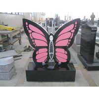 pink granite butterfly headstones