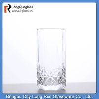 LongRun glassware whole sale sparkle crystal snowflask cut glass drinking water glass thumbnail image