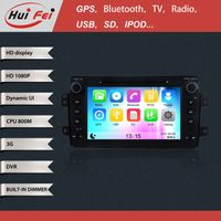 Huifei stereo touch screen in car CD DVD video player with NFC GPS navigation blue tooth 3G WIFI