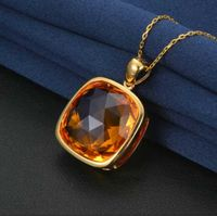 Manufacturer sale custom design elegant zircon semi precious necklace set