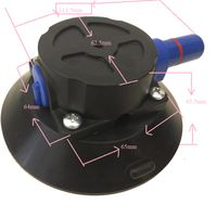4.5inch hand sucking with pump type vacuum lifter for marble vacuum rubber lifter