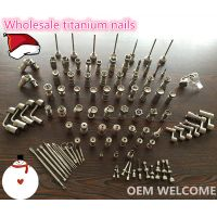 10mm 14mm 18mm gr2 titanium nail for smoking