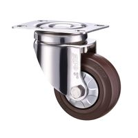 Swivel Fixed Plate SUS 304 Stainless Steel Medium Light Duty Caster Wheel