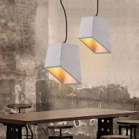 contemporary irregular shape chandelier, E27 cement pendant light for living room, restaurant & parl