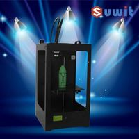 suwit 3d printer support ABS, PLA filament, 3d metal printer with dual extruder China