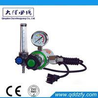 CO2 Electrically heated flowmeter regulator