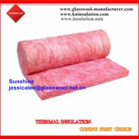 Pink color glass wool batts for house insulation