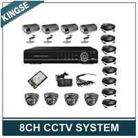 8CH H.264 Surveillance CCTV Camera DVR KITS