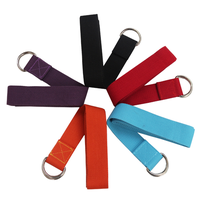 D-Ring Polyester Cotton Yoga Strap