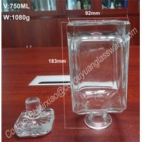 750ml Hot Sale Clear Decanter Bottles