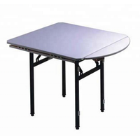 Strong Cocktail Round-Square Table Folding Banquet Restaurant Table thumbnail image
