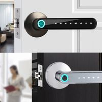 WAFU Bluetooth Fingerprint Smart Door Lock Keyless Rechargeable Security Door Lock Works with phone