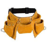 heavy leather tool pouch belt