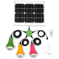 Portable Small Mini Solar Power System with Solar Light System Kitv