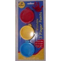 3pcs 25ml washable finger paint