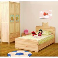 children bed and cabinet