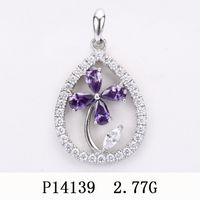 925 Sterling Silver Pendant with CZ P14139