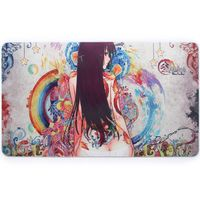 Custom hand drawing cartoon non-slip gaming rubber mouse mat