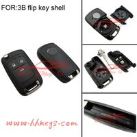 3 button flip key case for Opel auto keys with logo