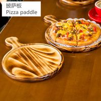 Factory Wholesale Wooden Pizza Plate/Wooden Retro Pizza Tray