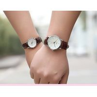 Leather Strap Romantic Couple Watch,Stainless Steel Couple Watch