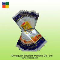 Natural plastic noddle packaging bag/breakfast food packaging bag