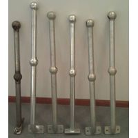tubular ball handrail