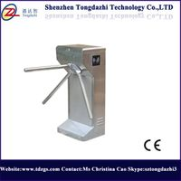 Security semi-auto tripod turnstile