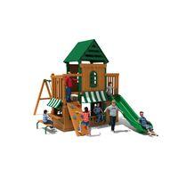 Popular Customized Children Wooden Outdoor Climbing Amusement Playground