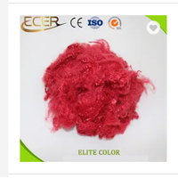 PROMOTION RECYCLED RED POLYESTER STAPLE FIBER