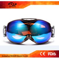 Detachable Lens Ski Snowboarding Eye Protector Double Lens Anti-fog Snow Goggles