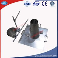 Jointless Concrete Slump Cone Test Apparatus with Hand Ring Base Plate