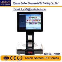 Touch Screen PC Control Scale, Supermarket Retail System Weighing Terminal Intelligent Pricing Scale thumbnail image