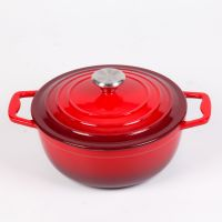 Enamel cast iron dutch oven casserole thumbnail image