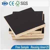 Finger Joint Board Black Plywood Price Shuttering Film Faced Plywood for Wholesale thumbnail image