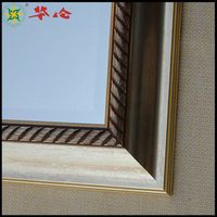 J08503 series PS wall baths decorative art mirror frame moulding