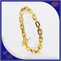 Gold plated chain bracelet 316L stainless steel bracelet wholesaler