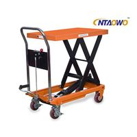 Manual lift table with single scissor