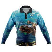 Custom long sleeve fishing shirt sublimated