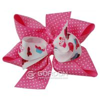 Cake Printed Birthday Hair Bow,Kids Hair Bows