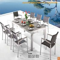 outdoor furniture Steel Table P.E Wicker Chair (RY-2008S)