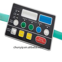 poly dome embossed keys membrane switch with lcd window