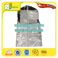 Widely empolyed in apparel industry and PDA certificate approved clear foldable zipper garment bag thumbnail image