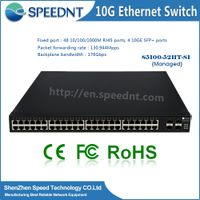 48 Port Gigabit Manageable networking switch with 4 port 10G SFP+ port
